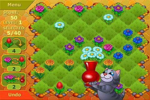 Скриншот Цветочный сад: Логическая игра на Айфон