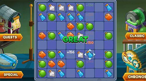 Arcade-Spiele: Lade Laborgeschichte: Klassisches Match-3 auf dein Handy herunter