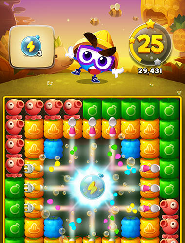 Match 3 games Juicy world in English