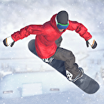 Just snowboarding: Freestyle snowboard action Symbol