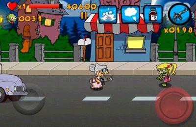 d'arcade: téléchargez La Mémé contre les Zombies sur votre téléphone