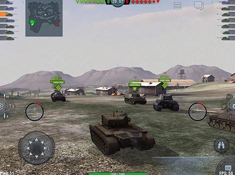 Shooter World of tanks: Blitz auf Deutsch