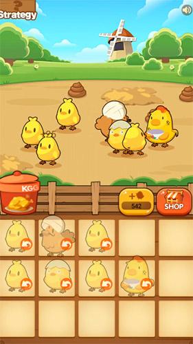 Chicken farm tycoon: Idle merge game auf Deutsch