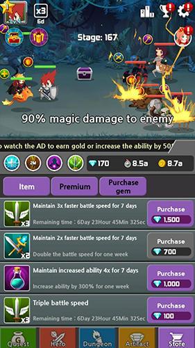 Dragon warriors: Idle RPG für Android