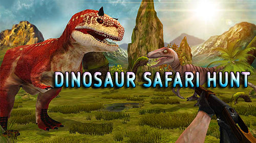 Dinosaur safari hunt icon