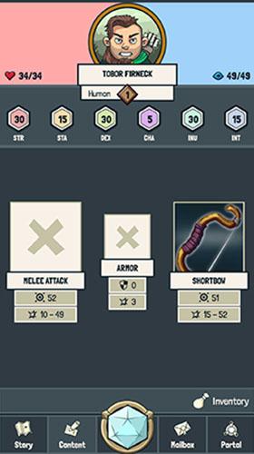 RPG-Spiele Yora adventures für das Smartphone