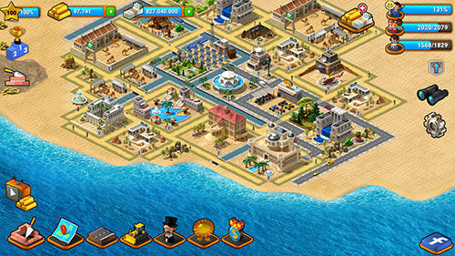 Tropical paradise: Town island. City building sim pour Android
