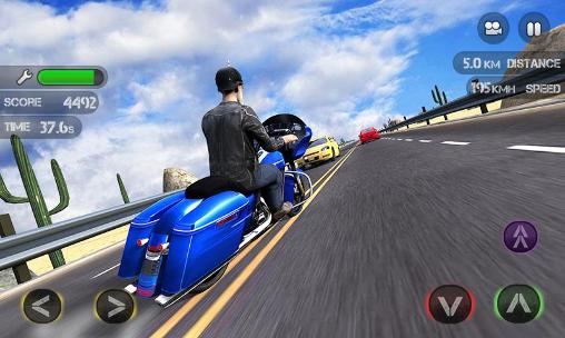 Spiele mit Motorrädern Race the traffic moto auf Deutsch