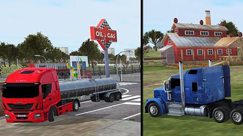 Simulator-Spiele Truck simulator 2017 für das Smartphone