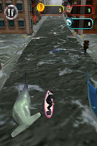 Акулий торнадо: Видео игра для Айфон