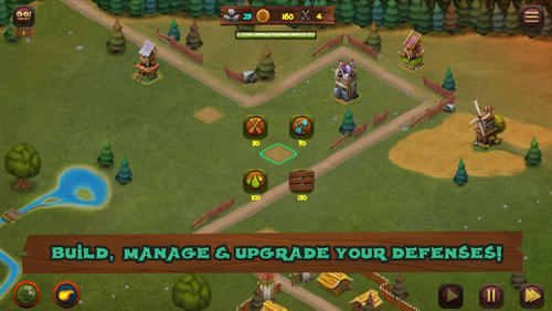 Strategie Hooman invaders: Tower defense für das Smartphone