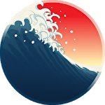Ukiyo wave icon
