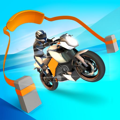 Slingshot Stunt Biker Symbol