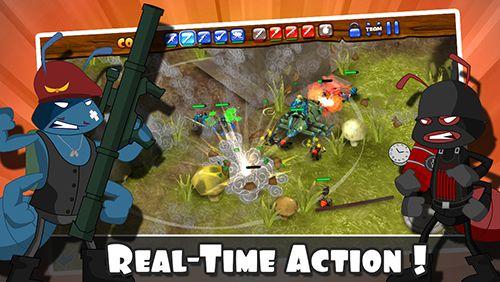 Multiplayerspiele: Lade Armeeameisen auf dein Handy herunter