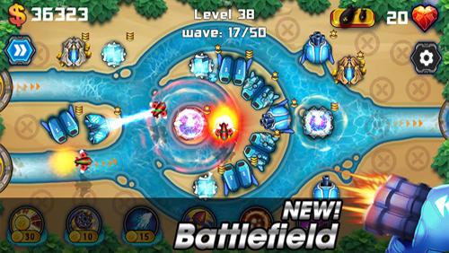Strategie Tower defense: Battlefield für das Smartphone