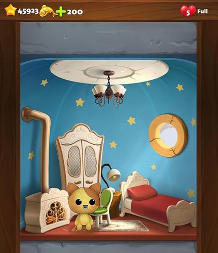 3 Gewinnt-Spiele Cat home design: Decorate cute magic kitty mansion auf Deutsch