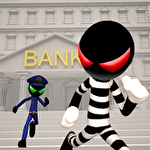 Stickman bank robbery escape icon