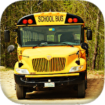School bus driving 3D Symbol