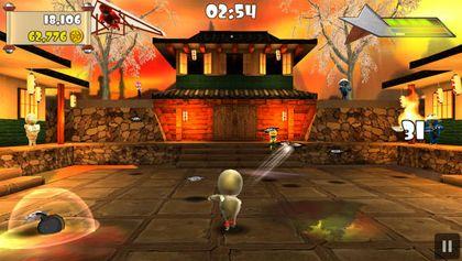 Screenshot Ninja-Durcheinander auf dem iPhone