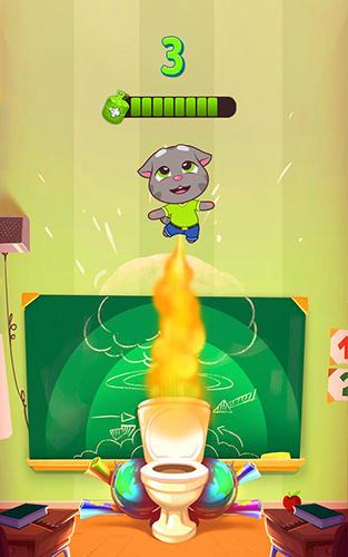 Juegos de arcade Talking Tom farts para teléfono inteligente