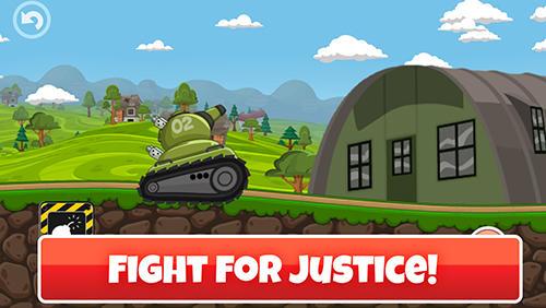 Mini tanks world: War hero race screenshot 1