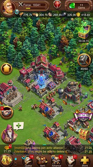 Onlinespiele War ages: Legend of kings für das Smartphone