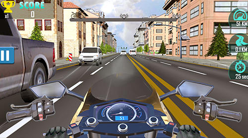 Rennspiele Moto racing: Traffic rider für das Smartphone