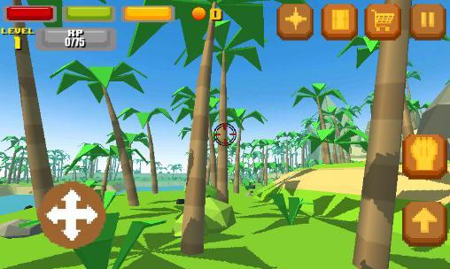 Pixelspiele Pixel island survival 3D auf Deutsch