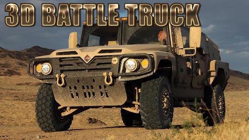 3D battle truck Symbol