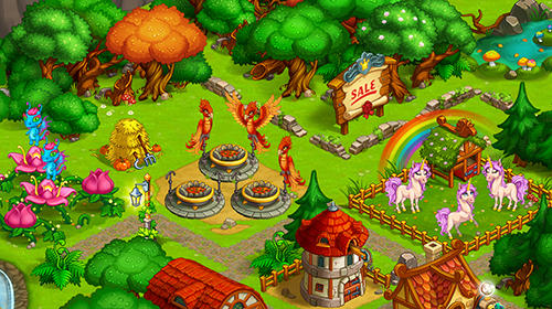 Farm fantasy: Happy magic day in wizard Harry town für Android