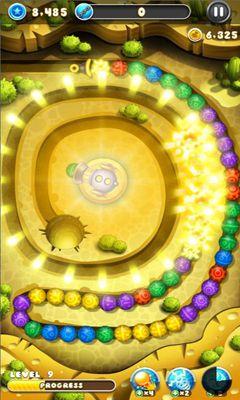 Zuma-Spiele Marble Blast Saga auf Deutsch