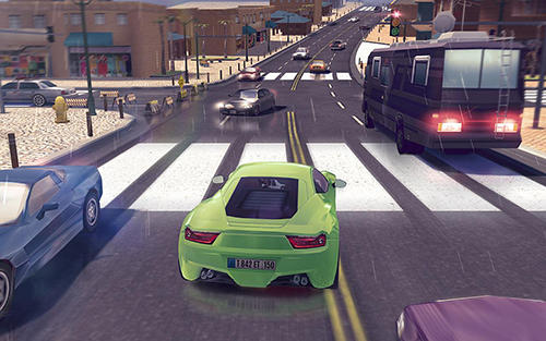 Traffic xtreme 3D: Fast car racing and highway speed скриншот 1