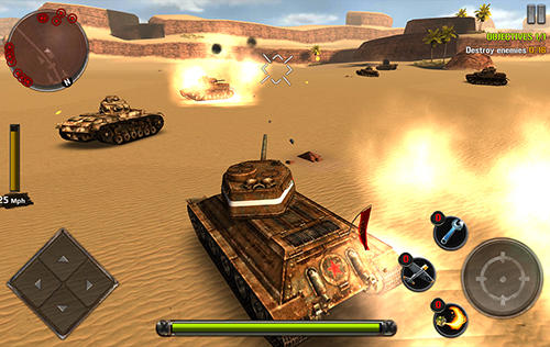 Shooter games Tanks of battle: World war 2 in English