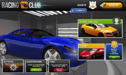 Rennspiele Racing club für das Smartphone
