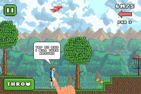 Pixel Diskus Golf auf Deutsch