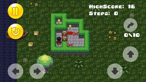 Arcade-Spiele Sokoban of pirate für das Smartphone