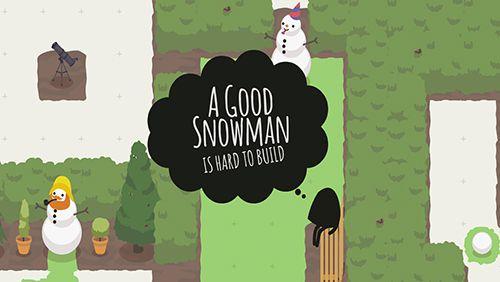 logo Ein guter Schneemann ist schwer zu bauen