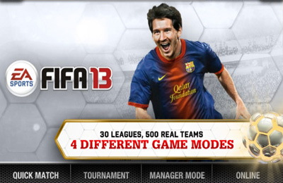 Screenshot FIFA 13 by EA SPORTS on iPhone