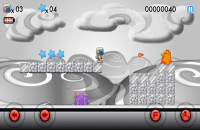 Captura de pantalla Blastronaut en iPhone