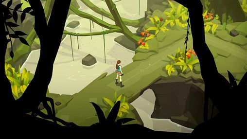 Screenshot Lara Croft Go auf dem iPhone