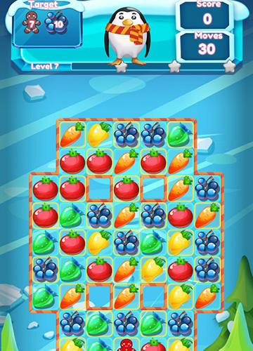Arcade-Spiele Winter fruit mania für das Smartphone