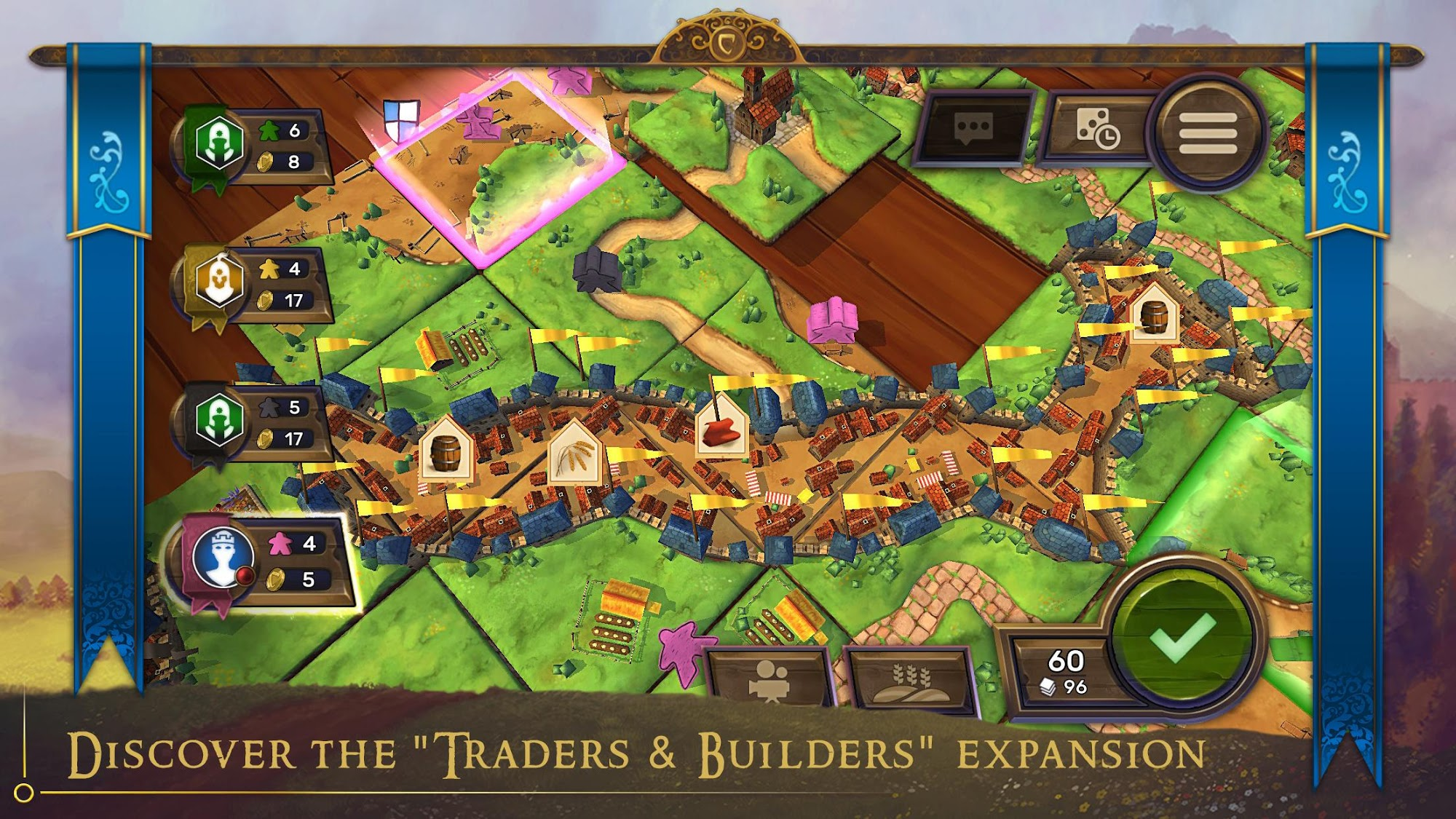 Carcassonne: Official Board Game -Tiles & Tactics captura de tela 1