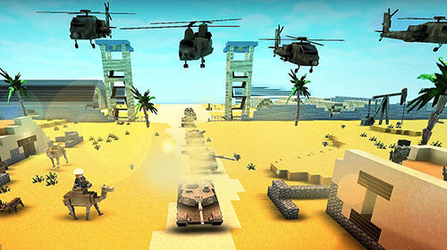 Call of craft: Blocky tanks battlefield pour Android