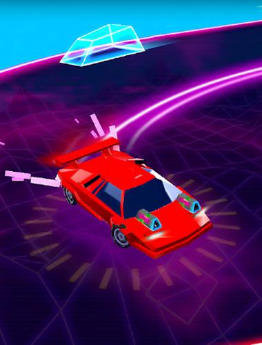 Racing games Neon drift: Retro arcade combat race for smartphone