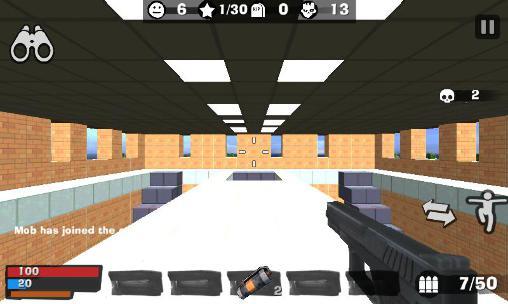 Actionspiele KBZ 2. Cube madness: Zombie war 2 für das Smartphone