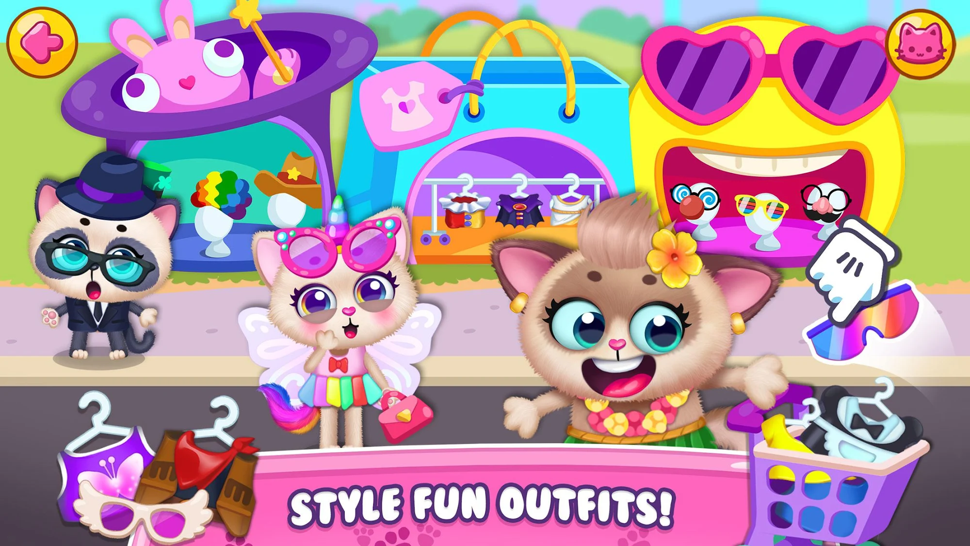 Little Kitty Town - Collect Cats & Create Stories スクリーンショット1