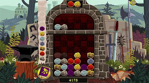 Arcade-Spiele Elfcraft: Match and crush 3 stones für das Smartphone