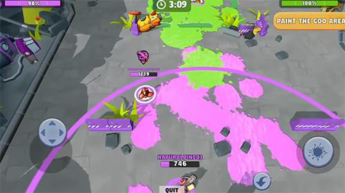 Arcade-Spiele Battle blobs: 3v3 multiplayer für das Smartphone