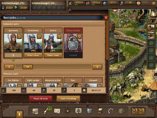 Online Strategy Tribal wars 2 in English
