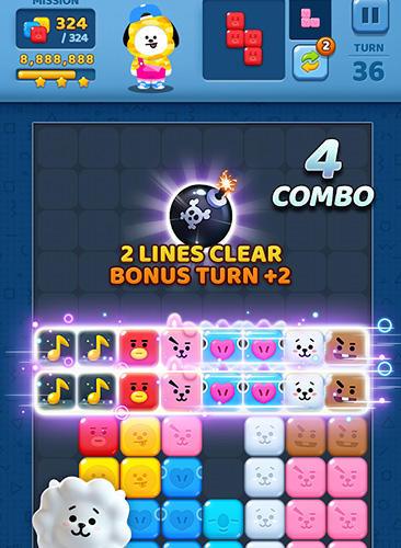 Logikspiele Puzzle star BT21 für das Smartphone